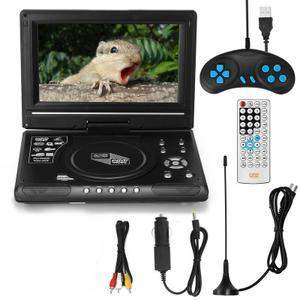 9,8-Zoll-High-Denifition-TV-DVD-Player Tragbarer VCD-MP3-MPEG-Viewer mit Spielgriff und CD,EU PlugMulticolor