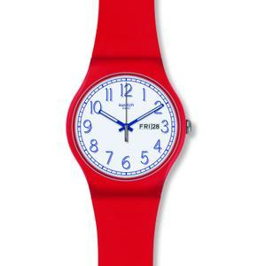 Swatch Originals New Gent Red Me Up Unisexuhr in Rot SUOR707